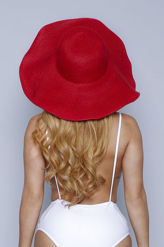 Red Wide Sun Hat