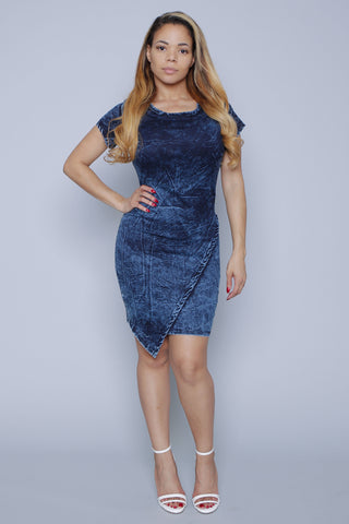 Deep blue Denim Dress