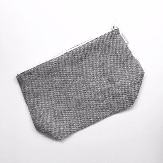 Fred Pouch Grey Chambray-Fog Linen