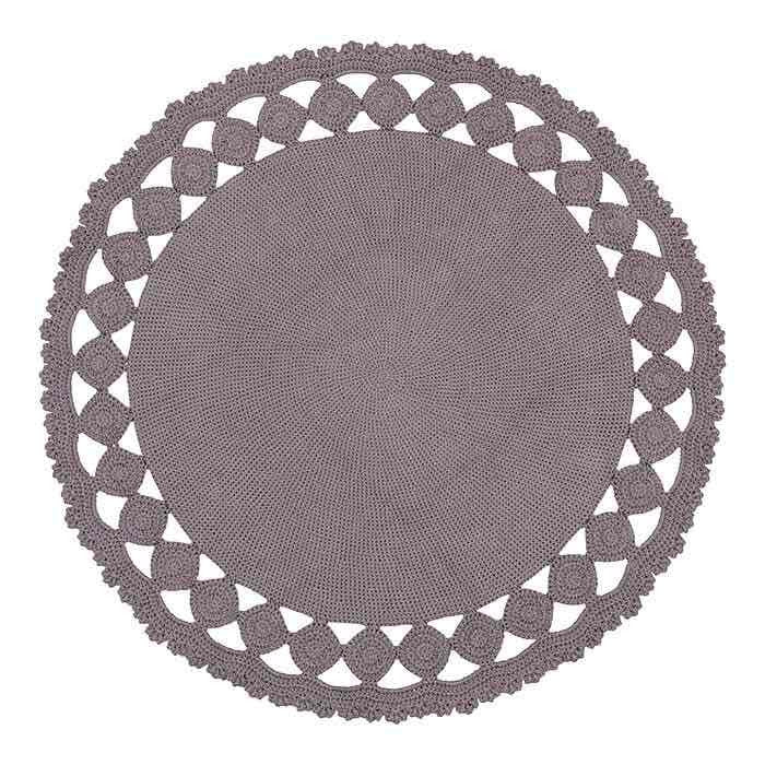 Round Grey Cut Out Floor Rug