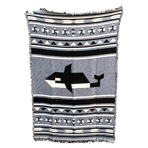 Orca And Surfers Blanket