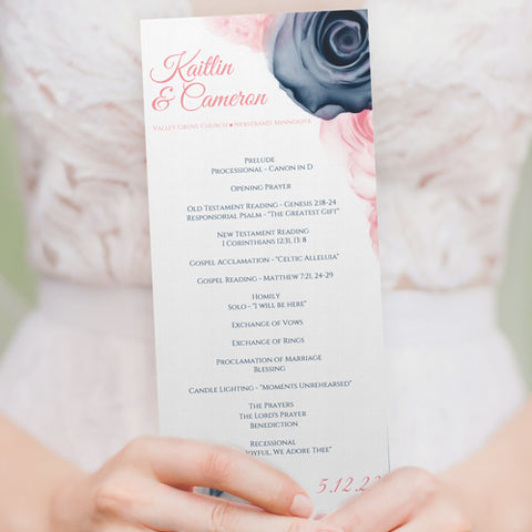 Freshly Made Navy & Pink Wedding Templates