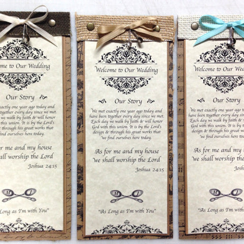 Burlap Wedding Program Idea