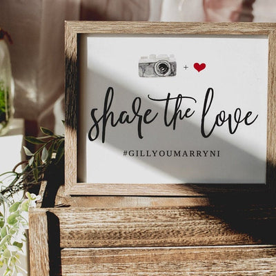 Wedding Hashtag Sign Template