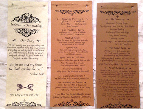 Hobby lobby wedding program templates images templates design ideas burlap wedding program idea the backer was made with printed kraft paper from hobby lobby with pronofoot35fo Image collections