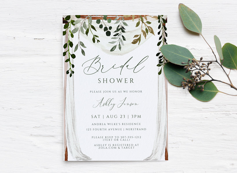 It is a photo of Printable Bridal Shower Invitations for party