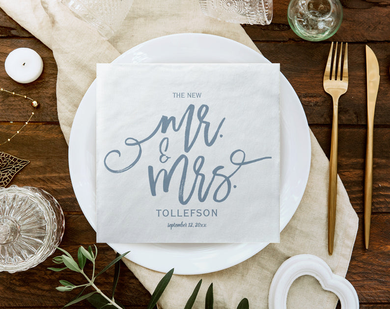 This is a picture of Printable Wedding Napkins in napkin folding