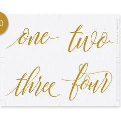 table number templates 4 x 6