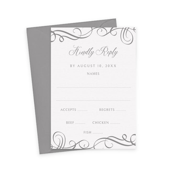 wedding rsvp card template