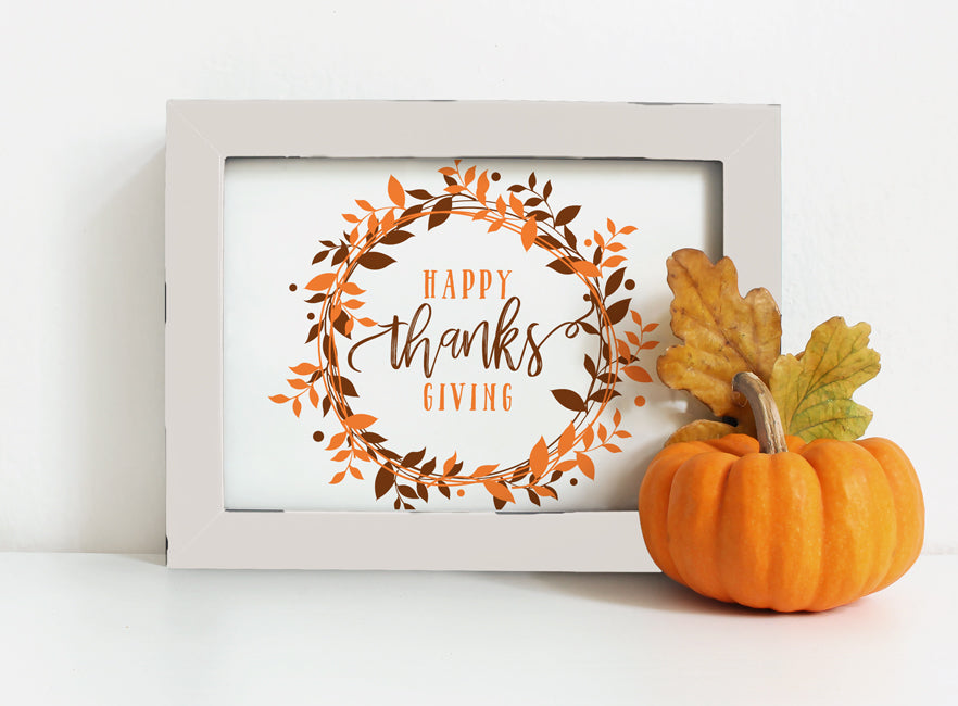 photo about Closed for Thanksgiving Sign Printable known as Printable Thanksgiving Indication or Card (5 x 7) Berry Wreath (Brown Orange)  PDF
