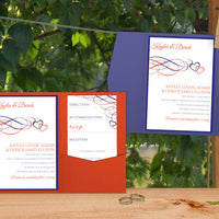 wedding pocket invitation templates