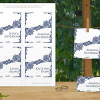 Printable Wedding Place Cards (Navy Lac)