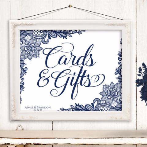 Cards & Gifts Wedding Sign Template