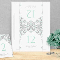 printable table number card template