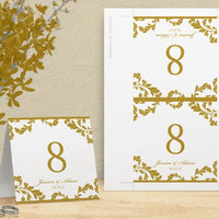 printable table number card