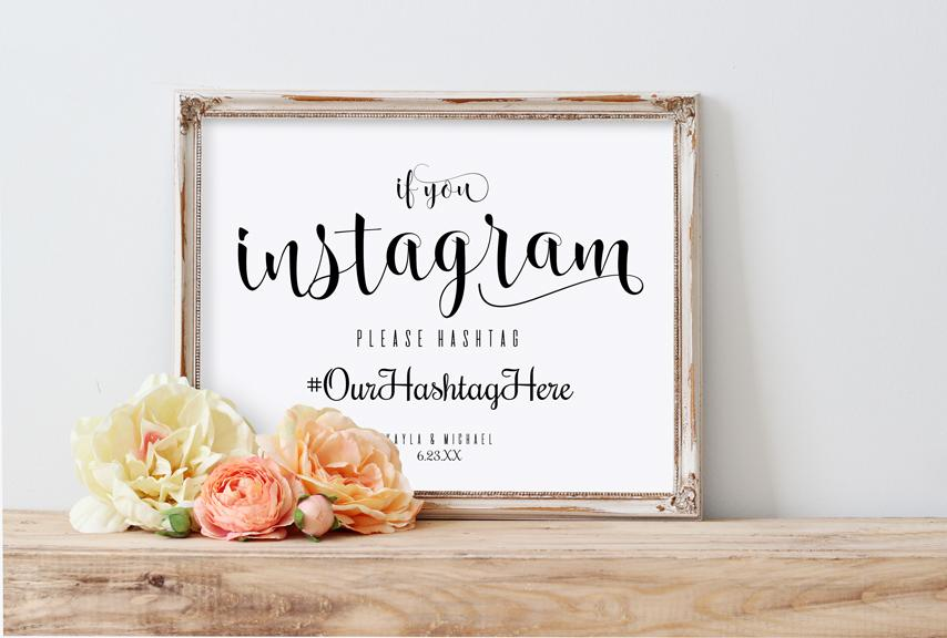 Printable If You Instagram Wedding Sign Templates 8 X 10