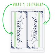 Wedding Reserved Sign Instant Download