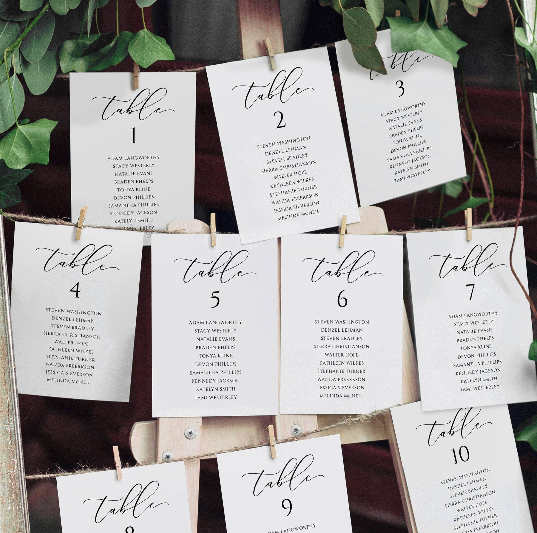 You Edit in Templett Printable Wedding Table Plan Cards Wedding Seating Chart Template