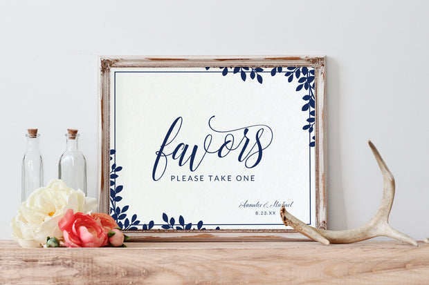 Wedding Sign Template - Editable PDF