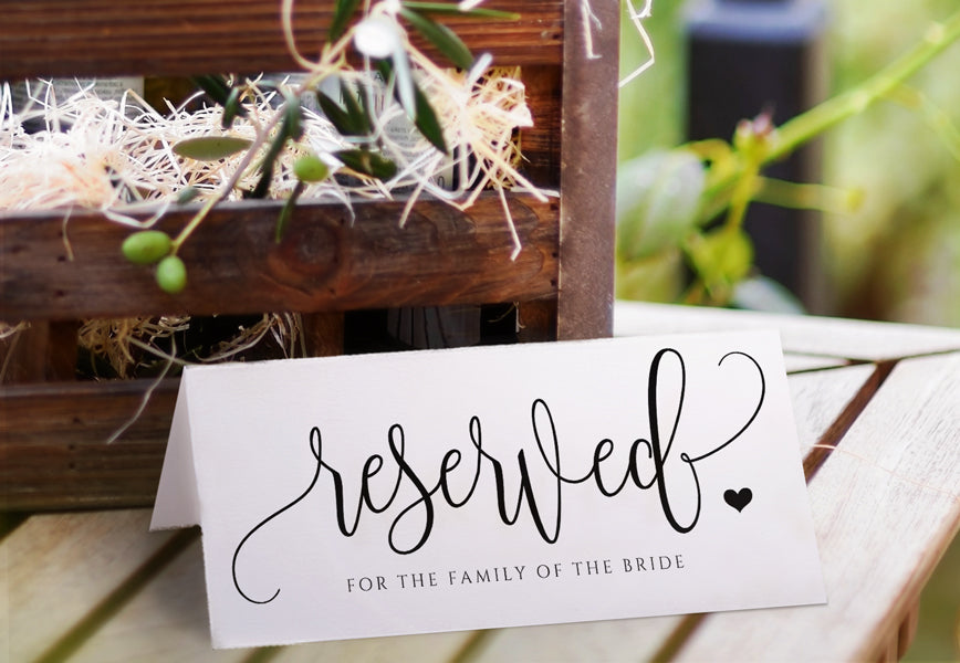 photo regarding Printable Reserved Signs for Wedding called Printable Reserved Signal Rustic Calligraphy Editable PDF