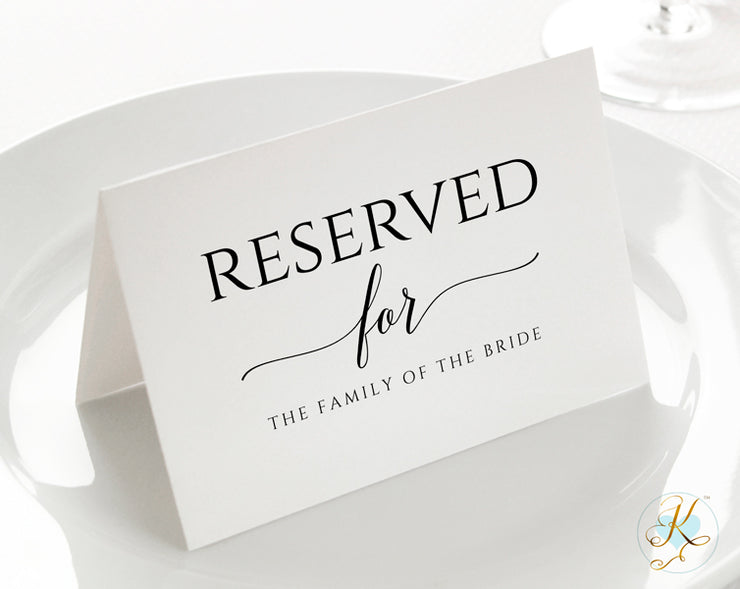 reserved sign tent pdf template small 3 5 x 5. Black Bedroom Furniture Sets. Home Design Ideas