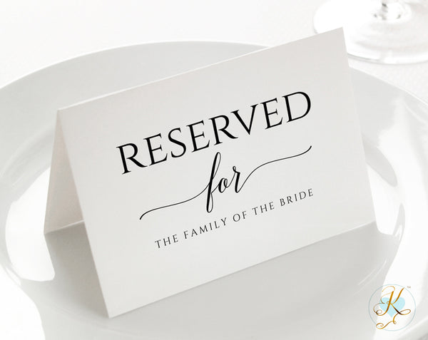 Wedding Sign Template Reserved Small 3 5 X 5