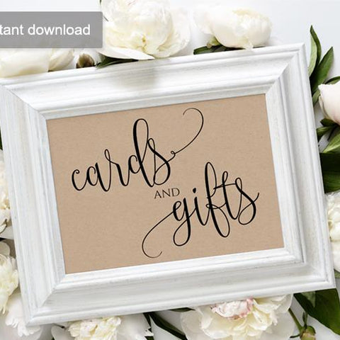 Rustic Wedding Sign - Cards & Gifts