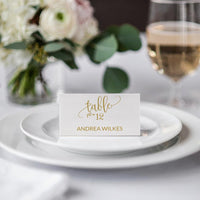 Calligraphy Gold - Wedding Place Card Template