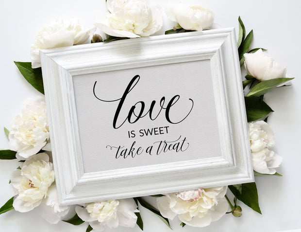 Love is Sweet Printable Wedding Sign