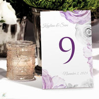 watercolor bouquet table number card template