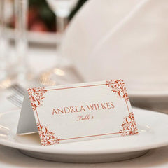 place card templates tent