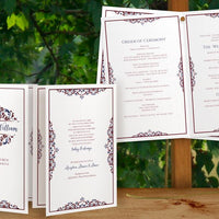Burgundy & Navy Wedding Templates - Program Booklet