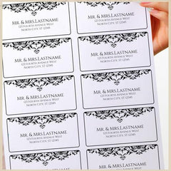 Address Label Templates X - His and hers address labels template
