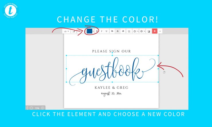 Printable Wedding Sign Guest Book 8x10 Pdf Rustic Calligraphy B