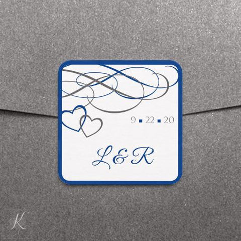 Label or favor tag template beloved horizon blue gray for 2x2 label template
