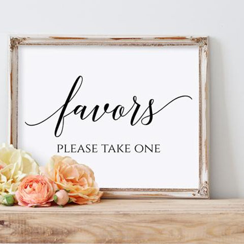 Wedding Favor Sign - Printable