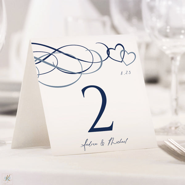 Table Number Template Allure Painted Tent Dark Red