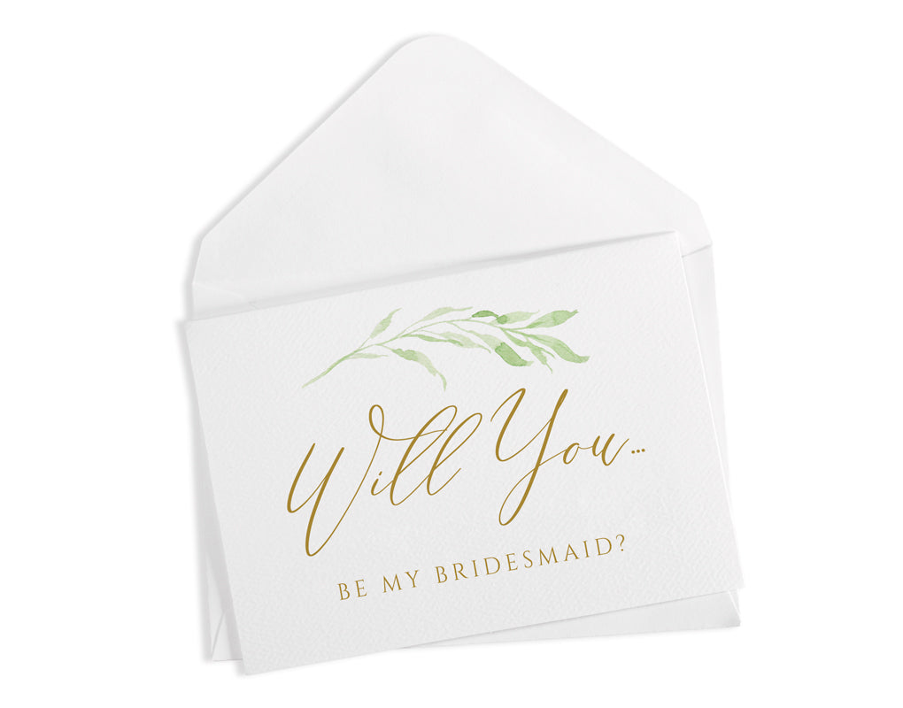 graphic regarding Will You Be My Bridesmaid Printable identify Will By yourself Be My Bridesmaid, Maid of Honor, and many others. Quick Down load Editable PDF Thin Script - Gold (Foldover)