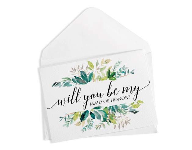 image about Printable Will You Be My Bridesmaid titled Will By yourself Be My Bridesmaid, Flower Lady PDF Printable Card Template  Passionate Vines Calligraphy Foldover