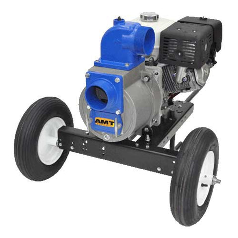 "4"" Gasoline Driven Trash Pump with Wheel Kit"