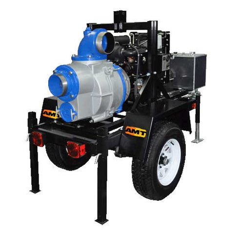 "6"" Diesel Driven Trash Pump with Trailer"