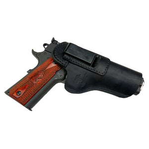 The Defender Leather IWB Holster - Fits All 1911 Style Handguns - Lifetime Warranty - Made in USA