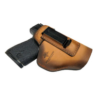 Load image into Gallery viewer, The Defender Leather IWB Holster - S&W Shield/Glock/XD Handguns - Lifetime Warranty - Made in USA