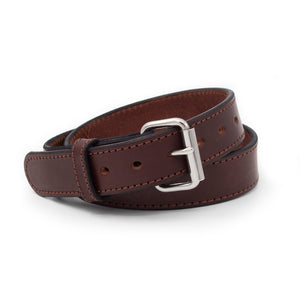 The Ultimate Concealed Carry CCW Gun Belt - Brown - Made in USA - Lifetime Warranty - 14 oz Leather