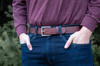 Load image into Gallery viewer, The Ultimate Concealed Carry CCW Gun Belt - Brown Basketweave - Made In USA - Lifetime Warranty