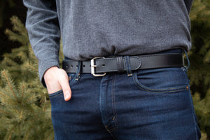 The Ultimate Concealed Carry CCW Leather Gun Belt - Made in USA - Lifetime Warranty - Black