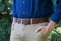 Load image into Gallery viewer, The Ultimate Concealed Carry CCW Gun Belt - Brown - Made in USA - Lifetime Warranty - 14 oz Leather