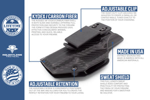 Stealth Mode Glock 17/22/31 Kydex Inside the Waistband Holster - Custom Molded For G17/22/31
