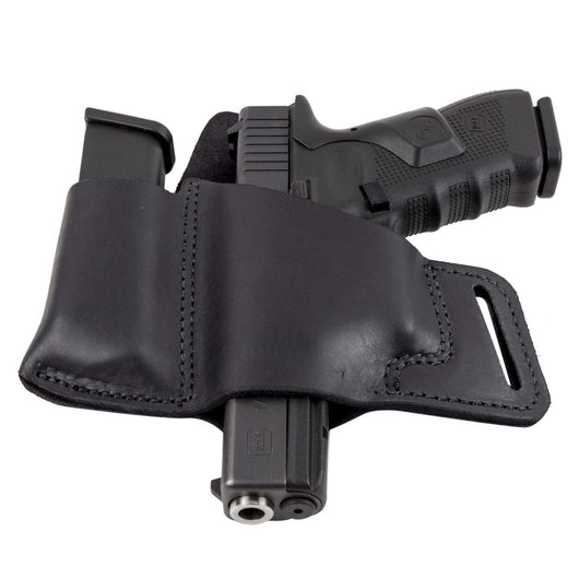 CLEARANCE !!!! Comfort Carry Leather Holster & Mag Pouch Combo | Made In USA Holsters Black / Left Handed