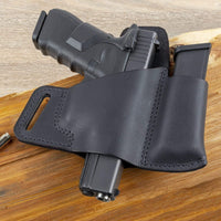 Load image into Gallery viewer, CLEARANCE !!!! Comfort Carry Leather Holster & Mag Pouch Combo | Made In USA